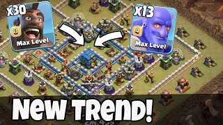 New Trend 30 Max Hogs 13 Max Bowler Army Smashing TH12 War 3 Star Attack Strategy Clans Of Clans