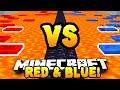 Minecraft - RED VS BLUE PARKOUR RACE! - w/ Preston & Kenny