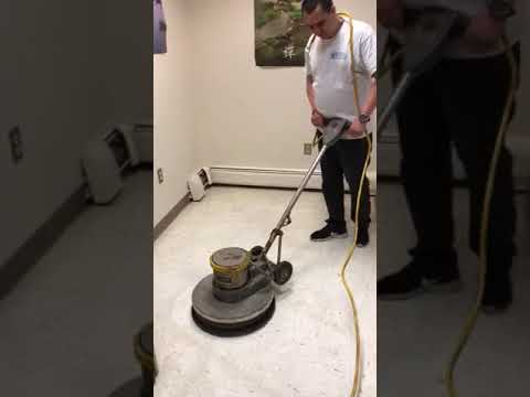 Excel Cleaning Group NJ - Floor Buffering Time!! Commercial Cleaning