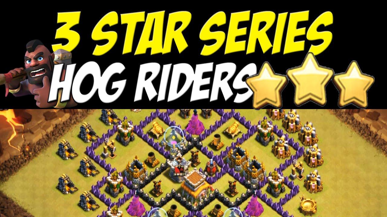 star series hog rider attack strategy th8 vs th8 war base 25