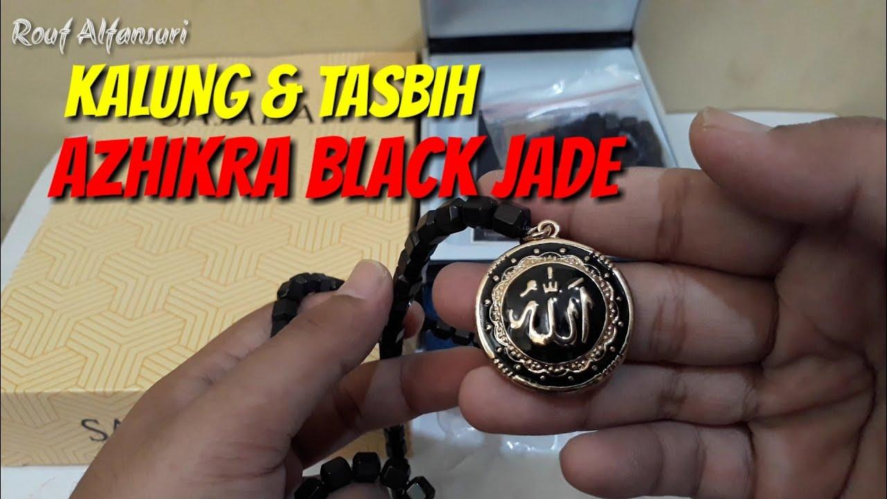Unboxing Azhikra Black Jade Kalung Tasbih Kesehatan Youtube Al Athar