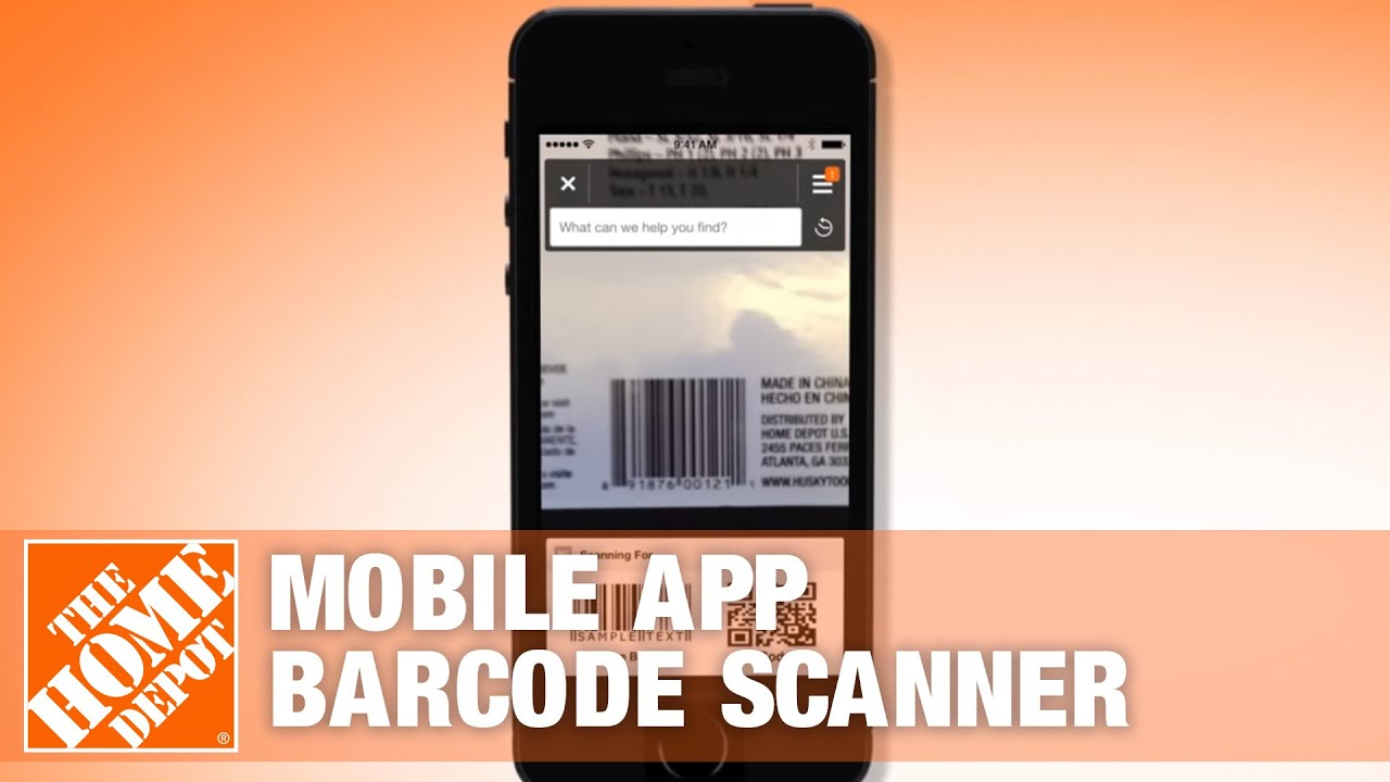 the home depot mobile app barcode scanner