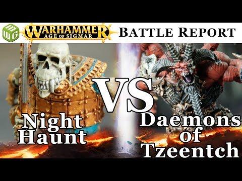 NEW Night Haunt vs Daemons of Tzeentch Age of Sigmar Battle Report - War of the Realms Ep 172