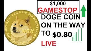 🐋 GME to $1000 HODL DOGE COIN on the way to 69 CENTS DOGECOIN #DOGE #BTC #CRYPTO 🚀🚀 LIVE