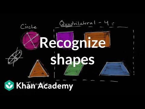 Recognizing Shapes | Geometry | Early Math | Khan Academy