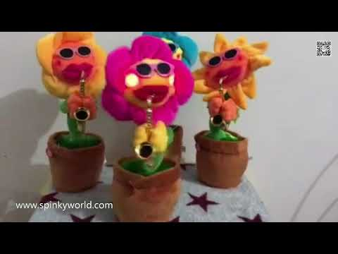 Singing and Dancing Saxophone LED Sunflower Soft Plush Funny Creative Electric Toys