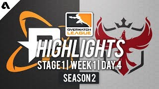 Philadelphia Fusion vs Atlanta Reign | Overwatch League S2 Highlights - Stage 1 Week 1 Day 4
