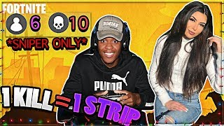 1 KILL = REMOVE 1 CLOTHING w/ GIRLFRIEND - Fortnite Challenge (CRAZY REACTION) Part 5