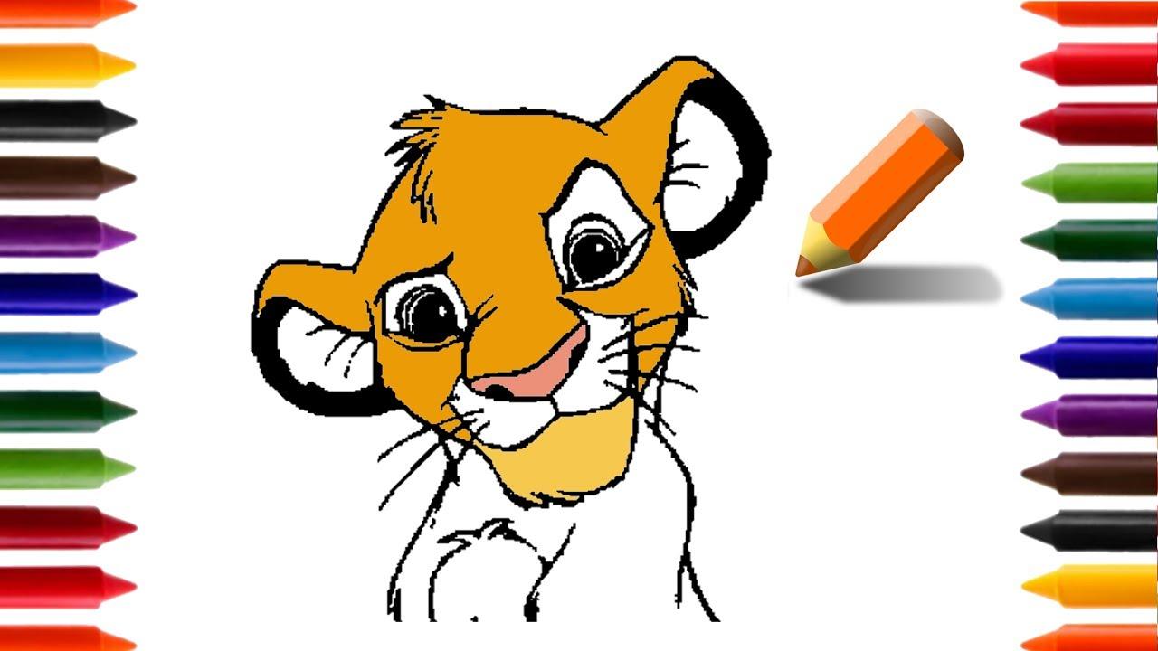 Aprendendo A Desenhar E Colorir Simba Rei Leao Animacoes E