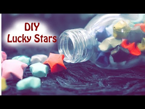 DIY how to make lucky star-origami stars | Dhruvi Shah