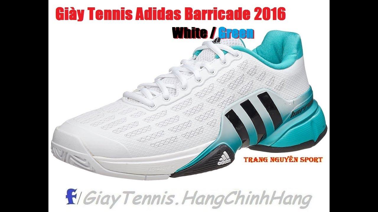 adidas barricata 2016 bianco / verde delle scarpe maschili trangnguyensport