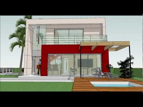 Muestra de casas roberto mendez arquitecto youtube - Planos de casas minimalistas ...