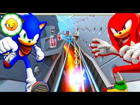 Sonic Dash 2: Sonic Boom #1  Соник и Наклз в командной игре! Супер продолжение ранера с Ёжиком