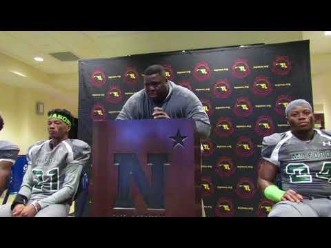 Milford Mill football press conference 3A state final 11/30/17