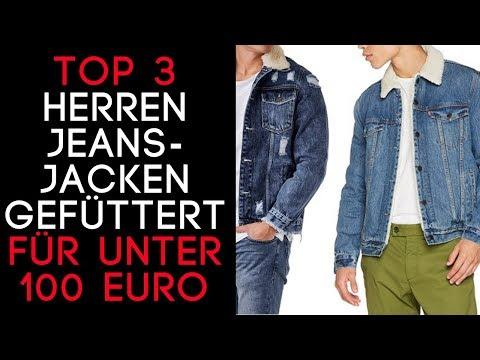 Jeansjacke Herren mit Fell/ Jeansjacken Herren gefüttert - Top 3 auf Amazon für unter 100 € -In 2018