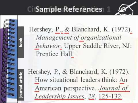using apa style for references and citations youtube