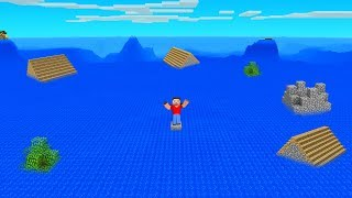 MINECRAFT But WATER Rises Every MINUTE! (scary)