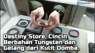 Destiny Store, Cincin Berbahan Tungsten dan Gelang Berbahan dari Kulit Domba.