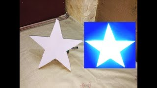 How to make a Simple LED Star for Decorations HAPPY NEW YEAR FRIENDS