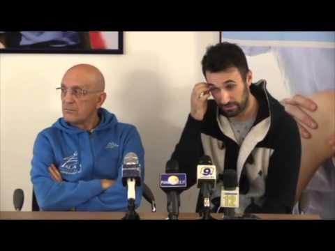Conferenza stampa Mirko Vucinic e dott. Peppino Palaia