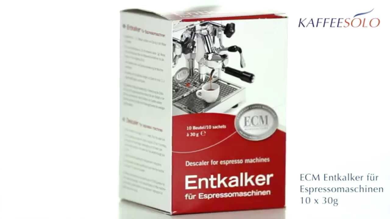 ECM Entkalker für Espressomaschinen 10 x 30g - YouTube | {Espressomaschinen 51}