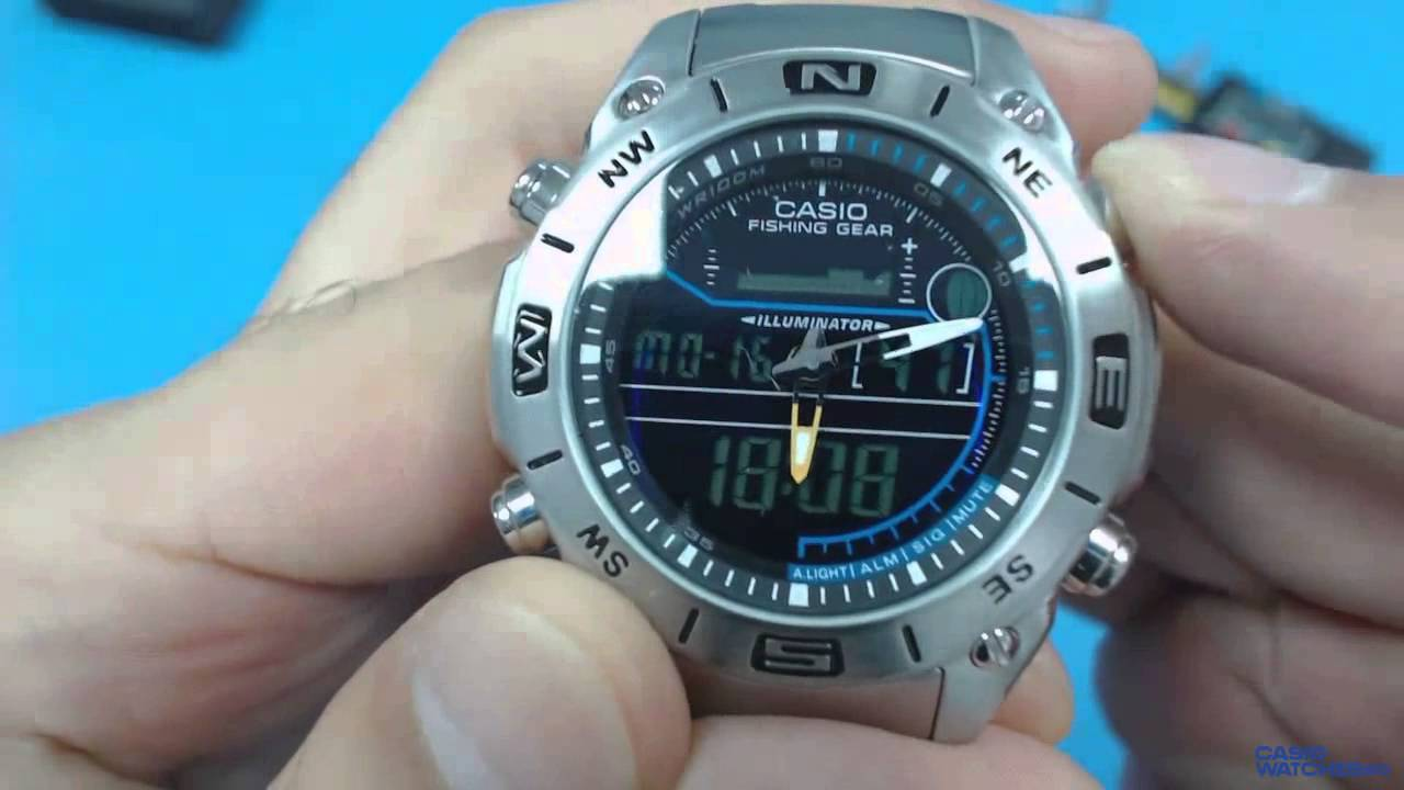 7d4fd64cfd5d Casio Outgear Fishing AMW-703D-1AV - YouTube