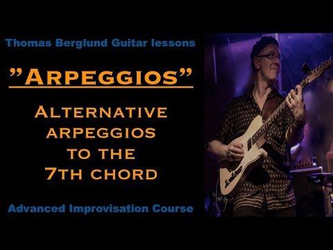 Alternative arpeggios to the 7th chord  - Guitar lesson