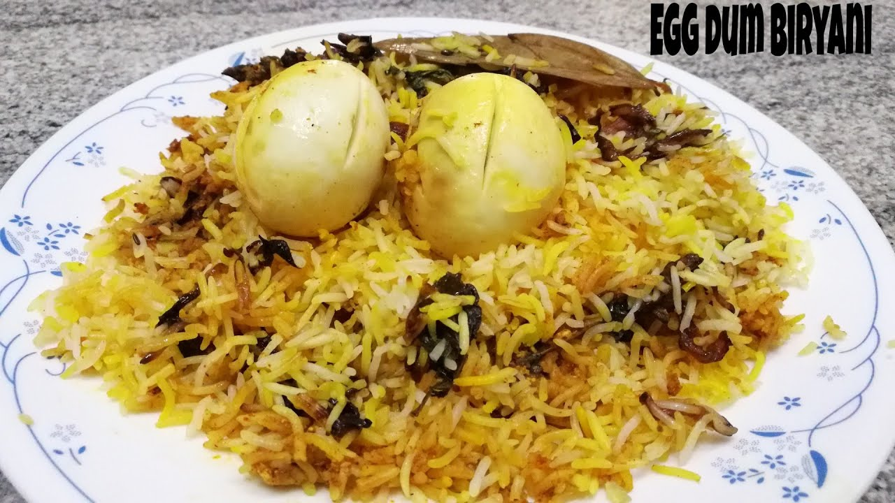 Egg dum biryani | Hyderabadi Egg biryani recipe