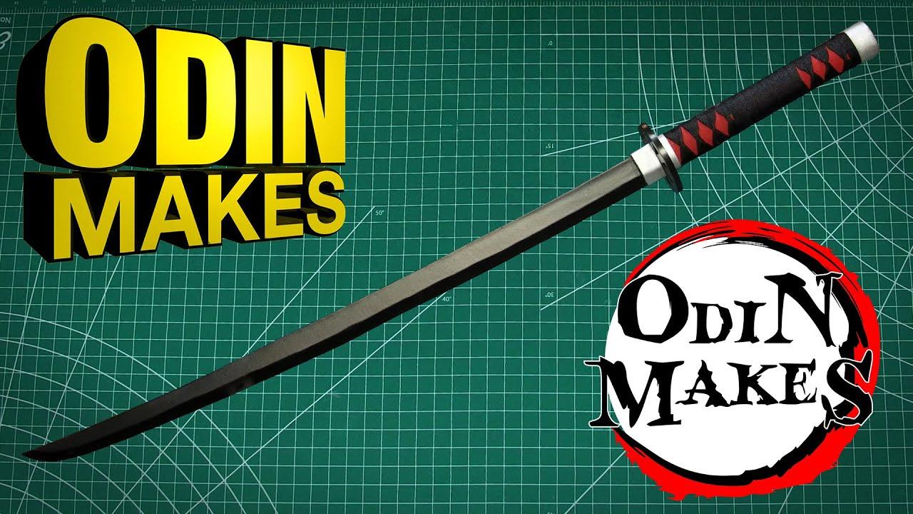 Odin Makes: Tanjiro Kamado's black katana from Demon Slayer