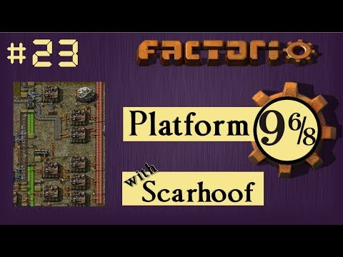 Factorio Multiplayer: Platform 9 6/8 EP 23 - Purple Packs! | Train & Belt World, Gameplay, Lets Play