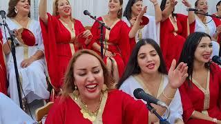حفل حنة عروسة تونسية ساحلية 😘 أكبر فرقة نسائية بقيادة المايسترو رحمة بن عفانة 💕😘