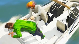 MOST INSANE BOAT CAPTURE EVER! (GTA 5 Funny Moments)