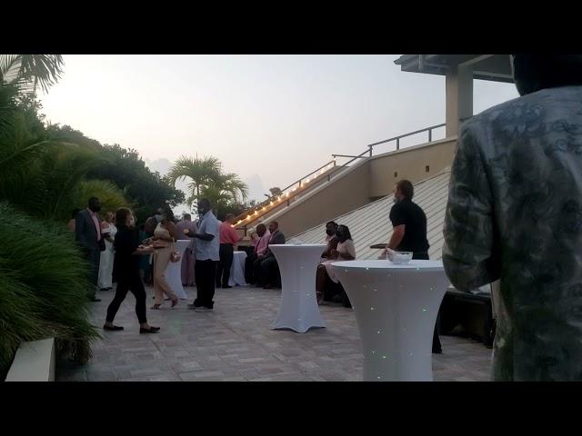 Wedding Cocktaik Hour Saxophone Entertainment Crown & Hawk Botanical Garden St Thomas USVI
