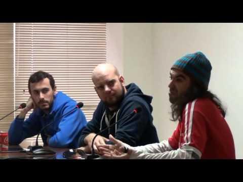 Chema Alonso, Luciano Bello y Diego Ferreiro en el Campus Sur de la UPM