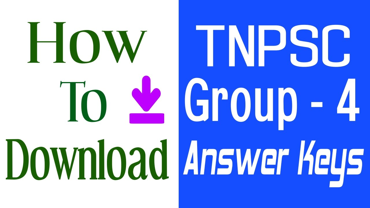 Tnpsc group 4 answer key 2016 how to download general studies english and general tamil youtube