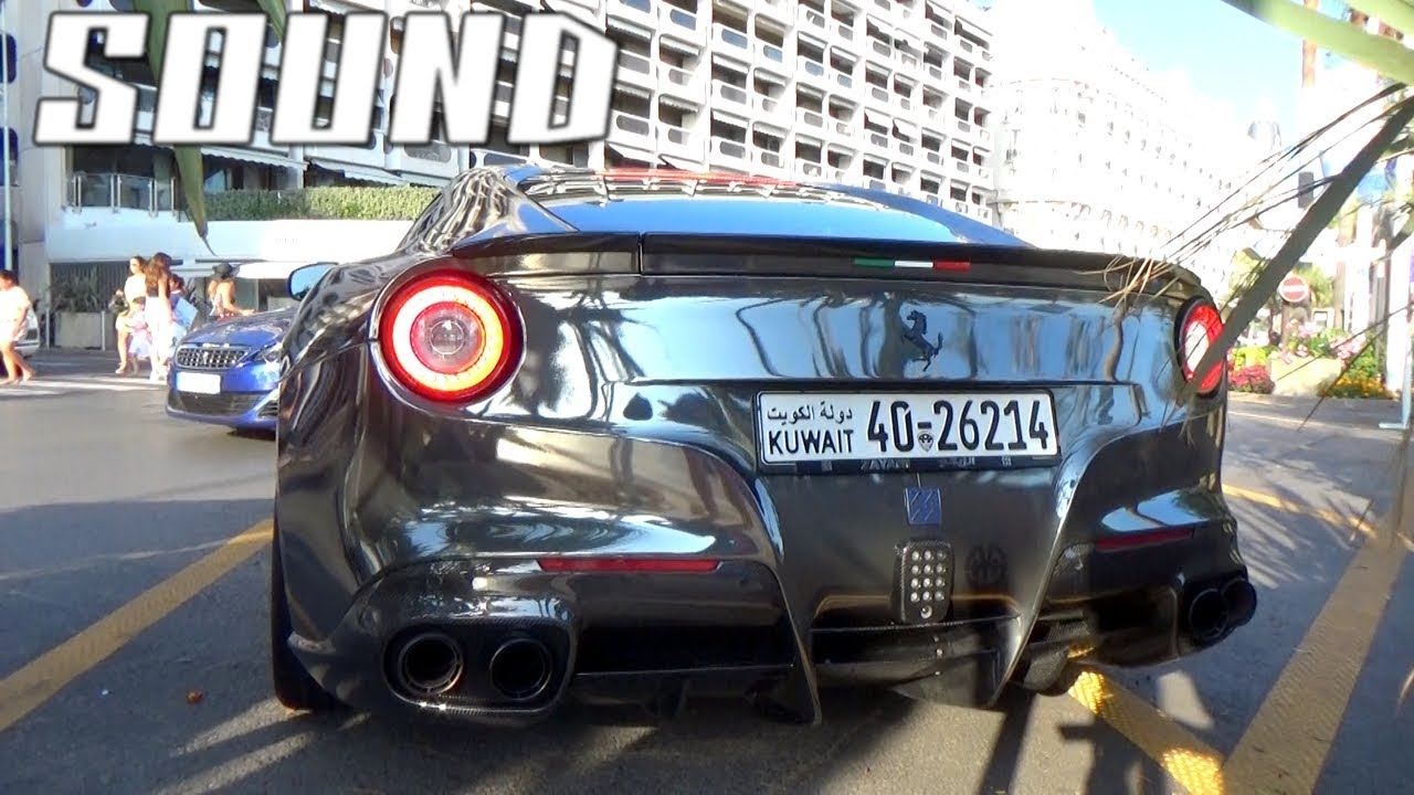 NOISIEST FERRARI F12 EVER !! From Kuwait In Cannes !