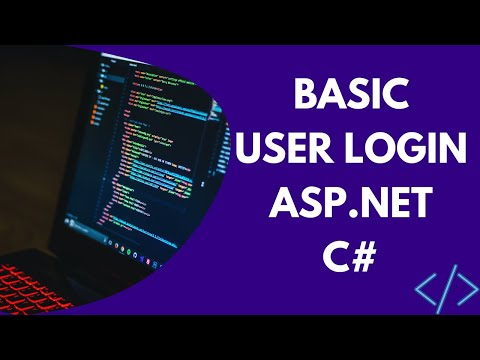 Basic User Login (ASP.NET) - YouTube