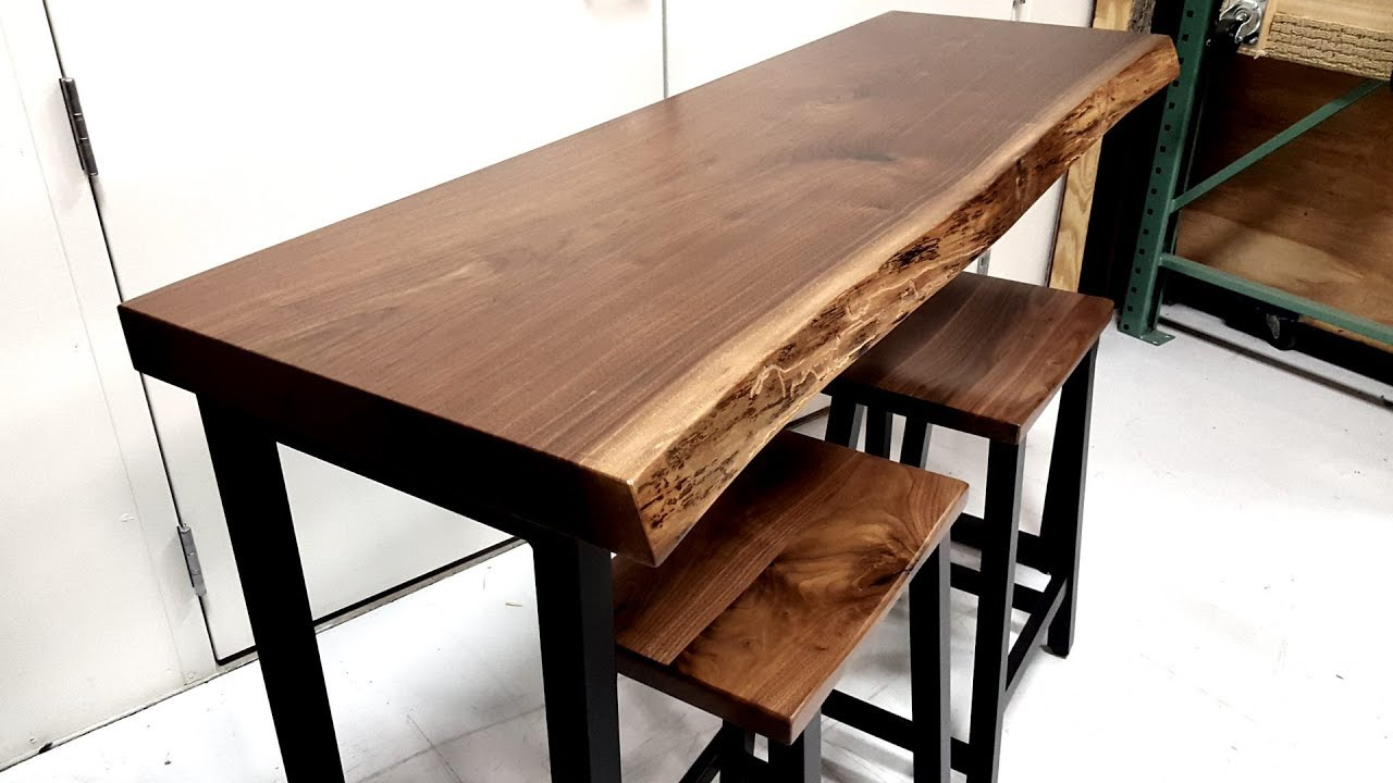 Walnut Live Edge Bar Table Country Lane Furniture