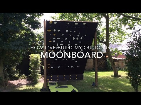 How to build an outdoor Moon board - bouldering climbing wall
