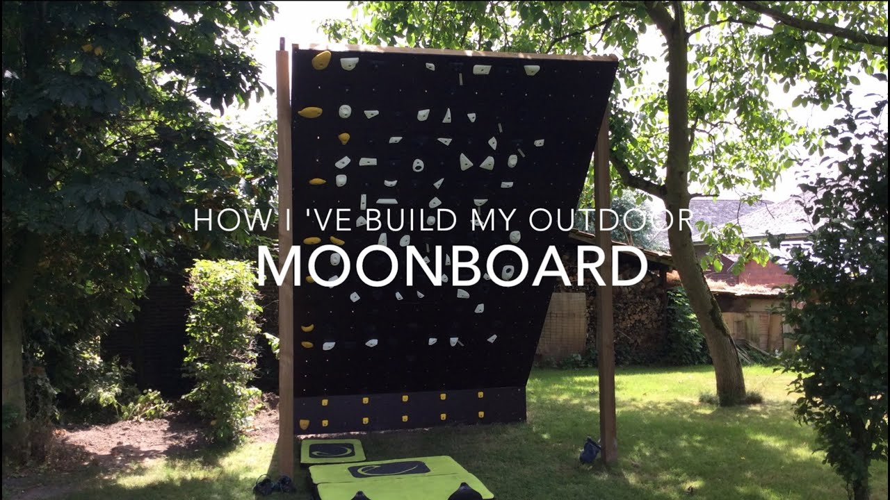 How To Build An Outdoor Moon Board Bouldering Climbing Wall Youtube