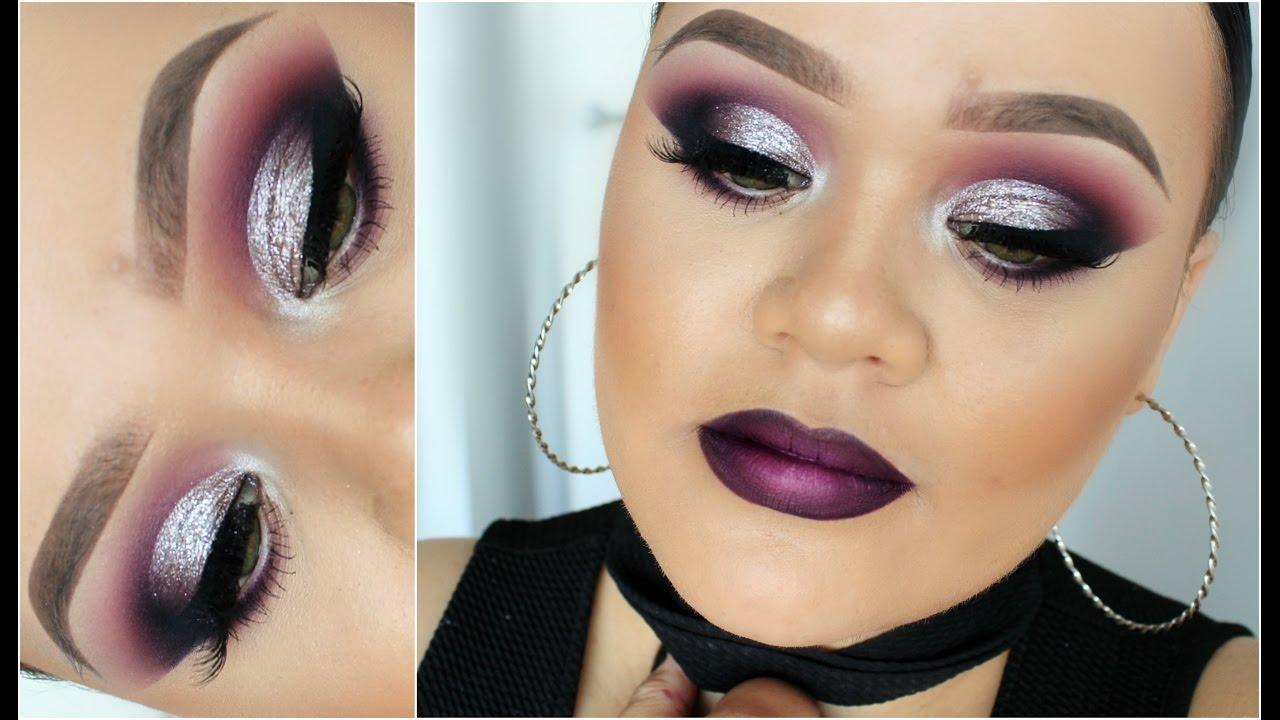 Dramatic Cut Crease U0026 Purple Ombre Lip U2661 Makeup Tutorial ...