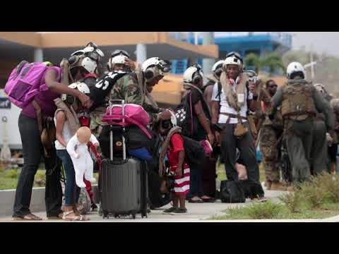 B-Roll: Joint Task Force - Leeward Islands evacuates U.S. citizens from Dominica