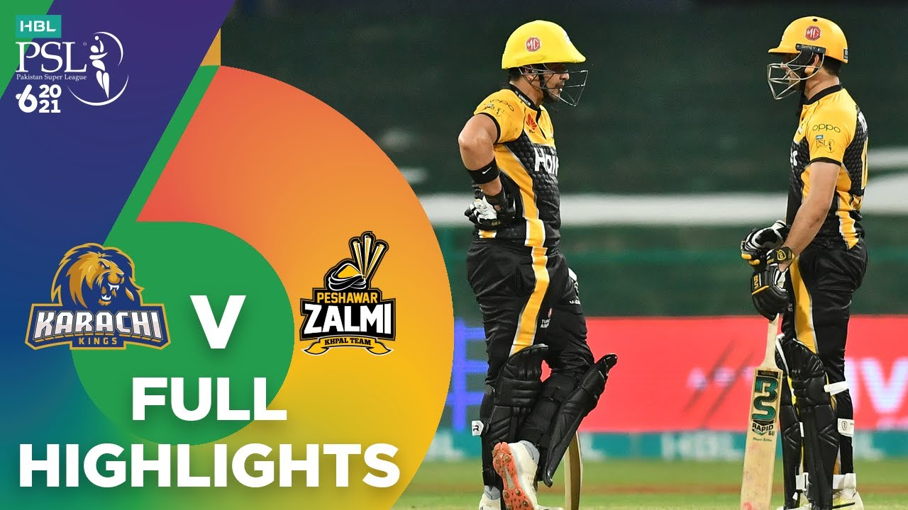 Download Full Highlights | Karachi Kings vs Peshawar Zalmi | Match 24 | HBL PSL 6 | MG2T