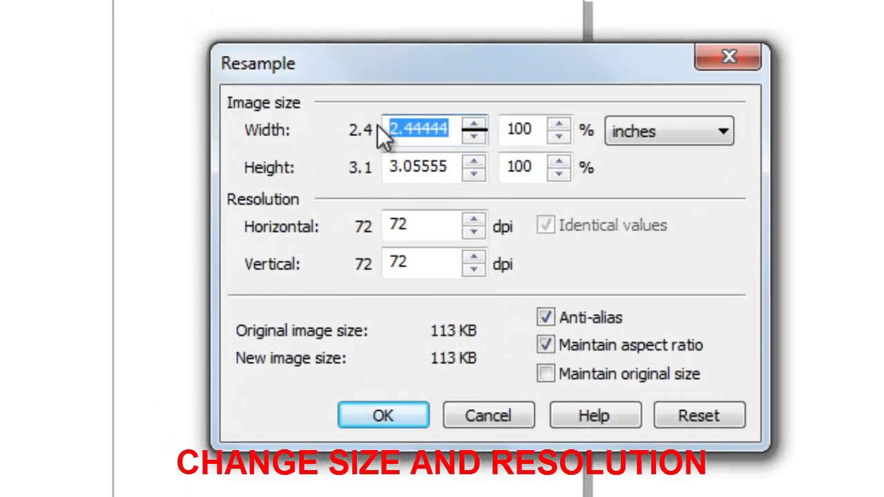 How To Increase Image Size And Resolution In CorelDraw X5? - YouTube