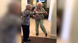 Watch these dancing grannies Whip and Nae Nae