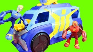 Stretch Armstrong And The Flex Fighters Toys With Mobile HQ And Hulk Rides Flexycle