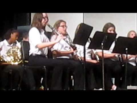 North Myrtle Beach Middle School Concert Band in Fredericksburg