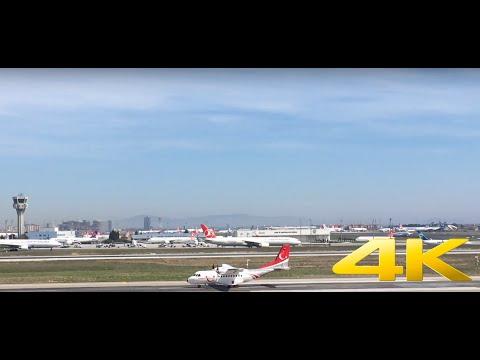 ✈ Turkish Air Force CASA CN 235 Takeoff From Istanbul Ataturk (LTBA 35L) - 4K