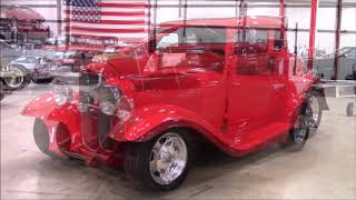 1932 Ford 5 Window Coupe Red