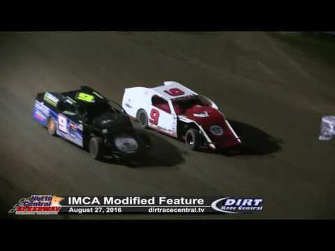 North Central Speedway 8/27/16 IMCA Modified Highlights - Kendall and Eischens